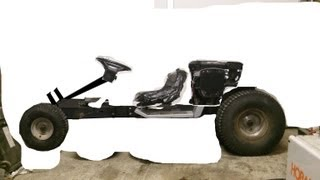 Plan To Convert Lawn Tractor To Go Kart