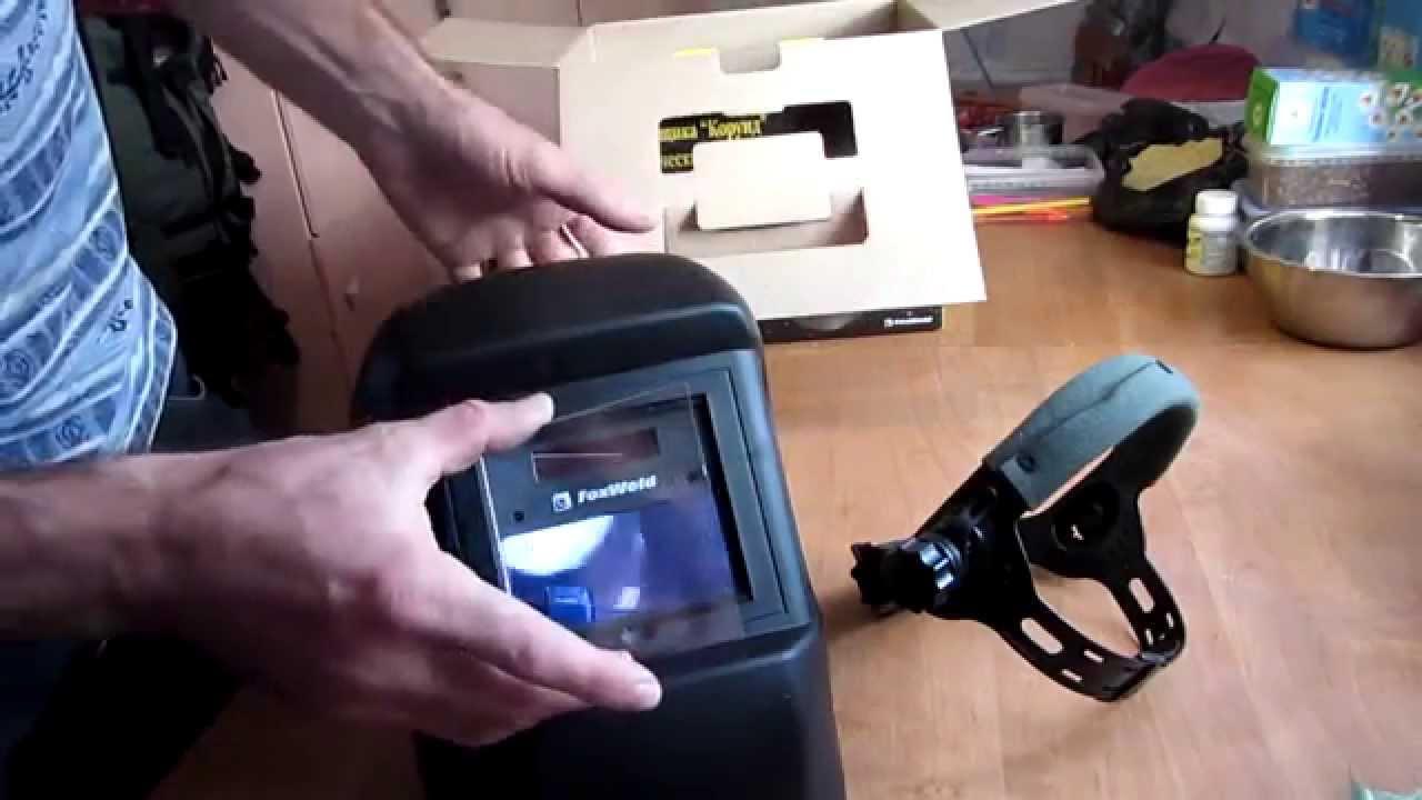 Маска сварщика FoxWeld Корунд-2 Техно - YouTube