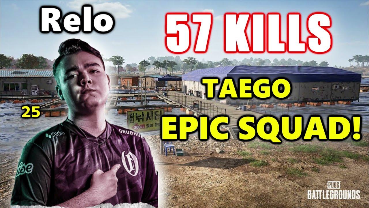 Oath Relo, Kickstart, DaSp00n & Topuntik - 57 KILLS - TAEGO EPIC SQUAD! - PUBG