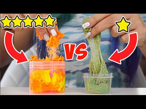 1 Star Vs 5 Star Etsy Slime! WORST SLIME EVER?!