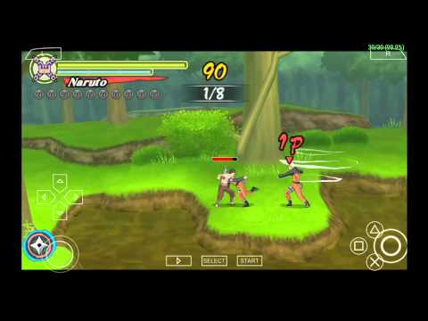 PPSSPP Emulator 0.9.8 for Android - Naruto Shippuden: Ultimate Ninja Heroes 3 [720p HD] - Sony PSP - 동영상