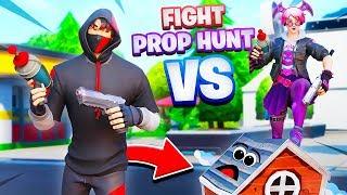 FIGHT EN PROP HUNT SUR FORTNITE !!