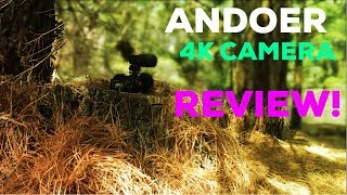 "ANDOER 4K WIFI 1080P HD 48MP 16X ZOOM 3"" LCD DIGITAL VIDEO CAMERA CAMCORDER DVR REVIEW!!"