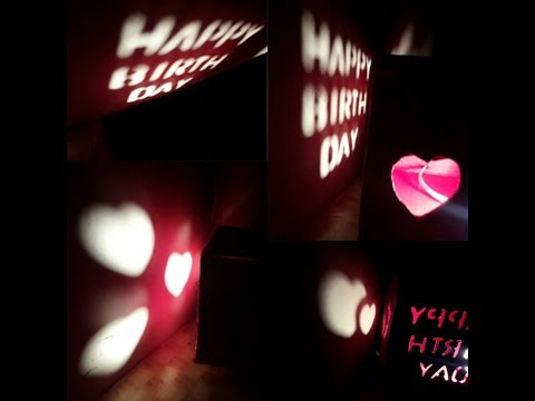Handmade gift for loved ones/Shadow message box/Illuminating box/Creative gift idea/ gift box