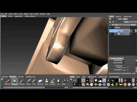 Painting in Mudbox for UDK (Part 2: Creating the edge highlights)