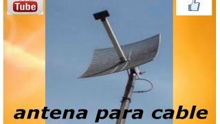 ELECTRONICA FACIL - antena para tv cable