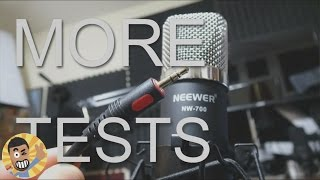 neewer nw 700 connected directly to pc microphone test no phantom power