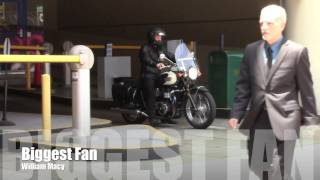 Shameless and Wild Hogs star, Wiliam Macy rides his motorcycle