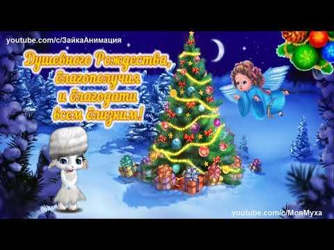 ZOOBE зайка Красивое Поздравление с Рождеством - Прикольное видео онлайн