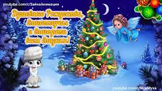 ZOOBE зайка Красивое Поздравление с Рождеством