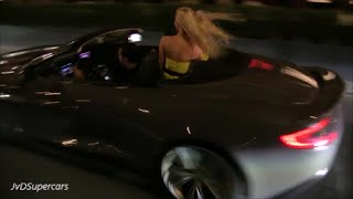 CRAZY Aston Martin Vanquish In Monaco! Girls & LOUD Accelerations!