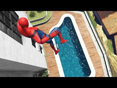 GTA 5 Spiderman Funny Ragdolls ep.26 (Euphoria physics | Funny Moments)