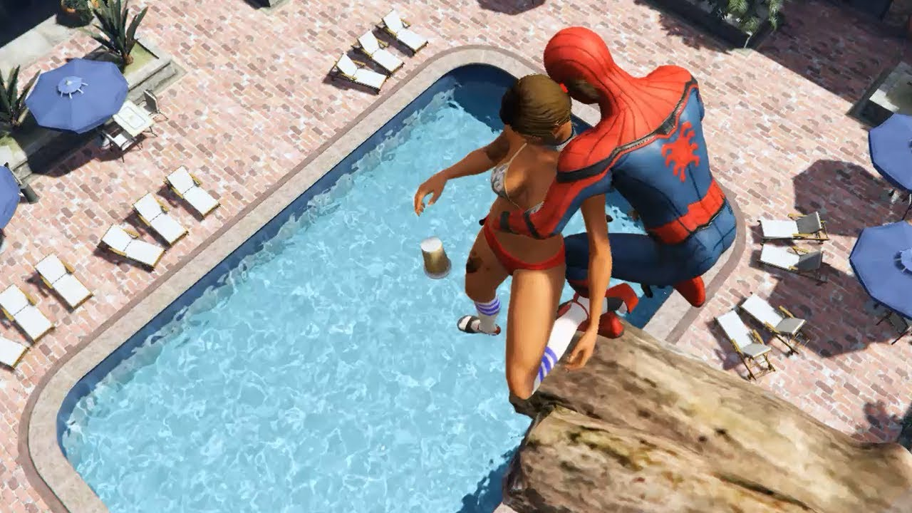GTA 5 Water Ragdolls | SPIDERMAN Jumps/Fails #26 (Euphoria physics | Funny Moments)