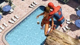 GTA 5 Water Ragdolls | SPIDERMAN Jumps/Fails #26 (Euphoria physics | Funny Moments)