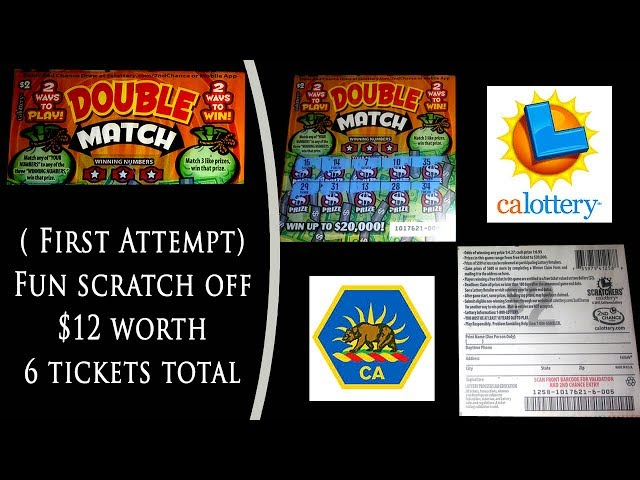 ???????? First Attempt ???????? CA Lottery Scratchers Double Match Tickets