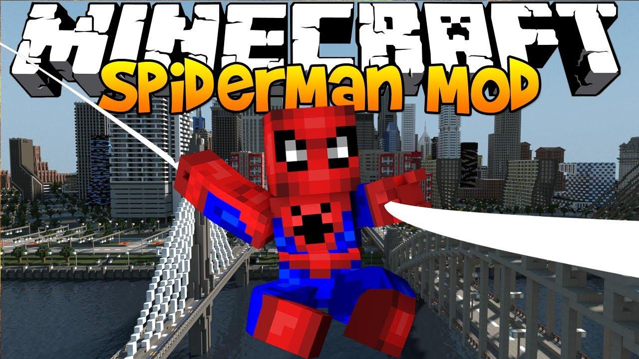скачать мод на майнкрафт 1 7 10 на spider man
