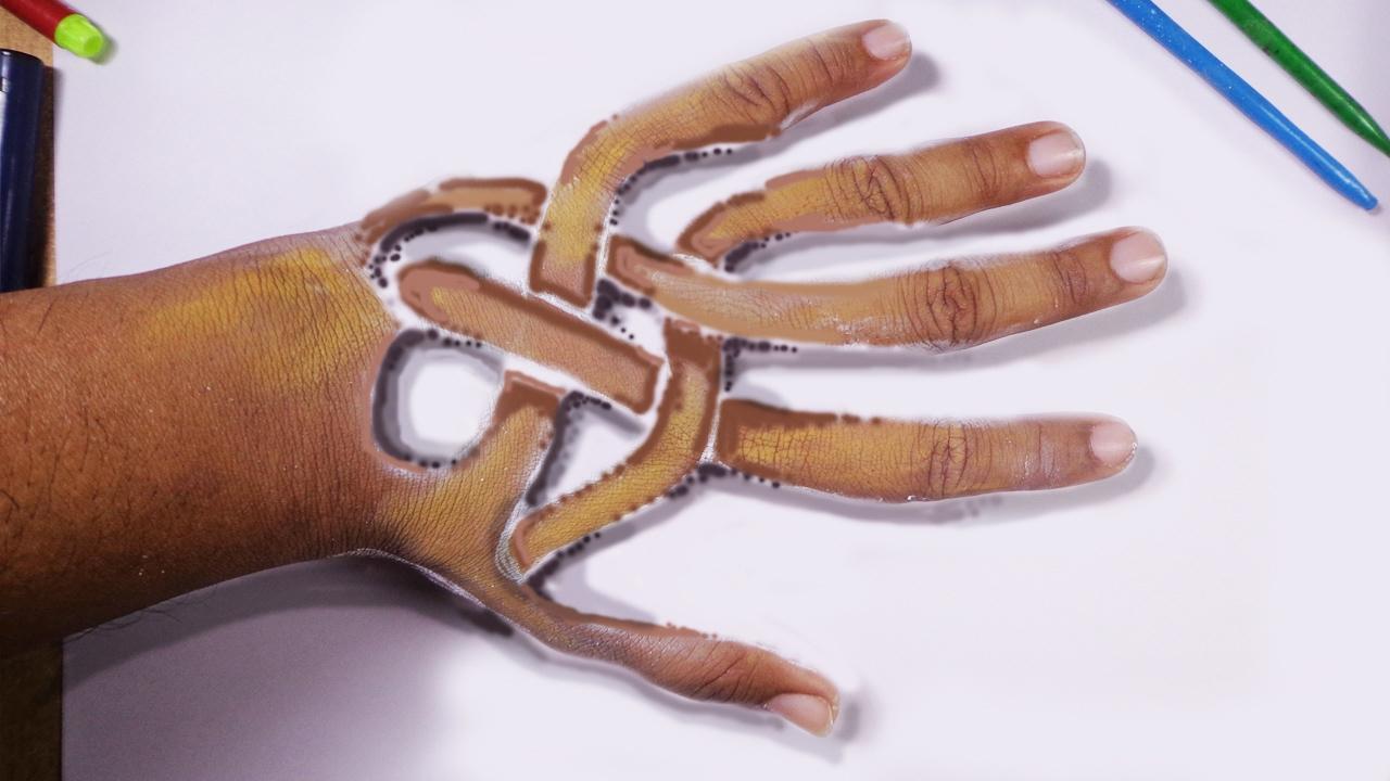 Hand Tattoo Designs Trick Art Youtube