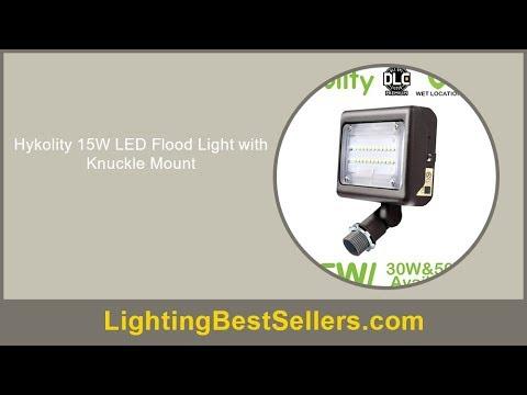 hykolity 15w led flood light with knuckle mount