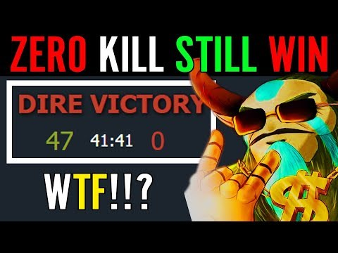 WTF is This Seriously?!! 0-47 Still Win - Zero Kill and Win? What!!!? Dota 2 WTF