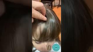 Preenchimento de franja com sistema a frio Trimmer technology Vida Hair - por Luciana Alvarez