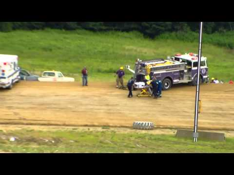 Dog Hollow Speedway - 7/5/15 Four Cylinder Flips in Turn #2