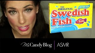 ASMR Candy: Candy ASMR 2015 Whispering Unboxing Eating Swedish Fish candy