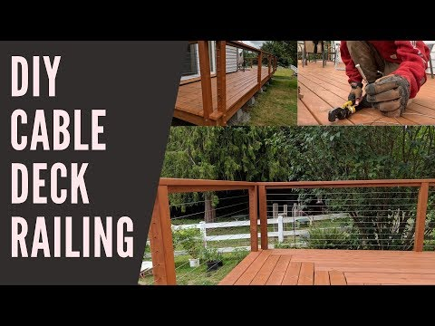 DIY Deck Cable Railing - hidden tensioners - we saved hundreds !