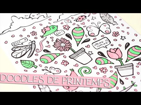 Tuto dessin doodles de printemps spring doodles youtube - Dessin de printemps ...