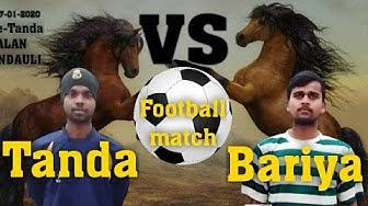 Tanda vs Bariya Football Match Tanda kalan