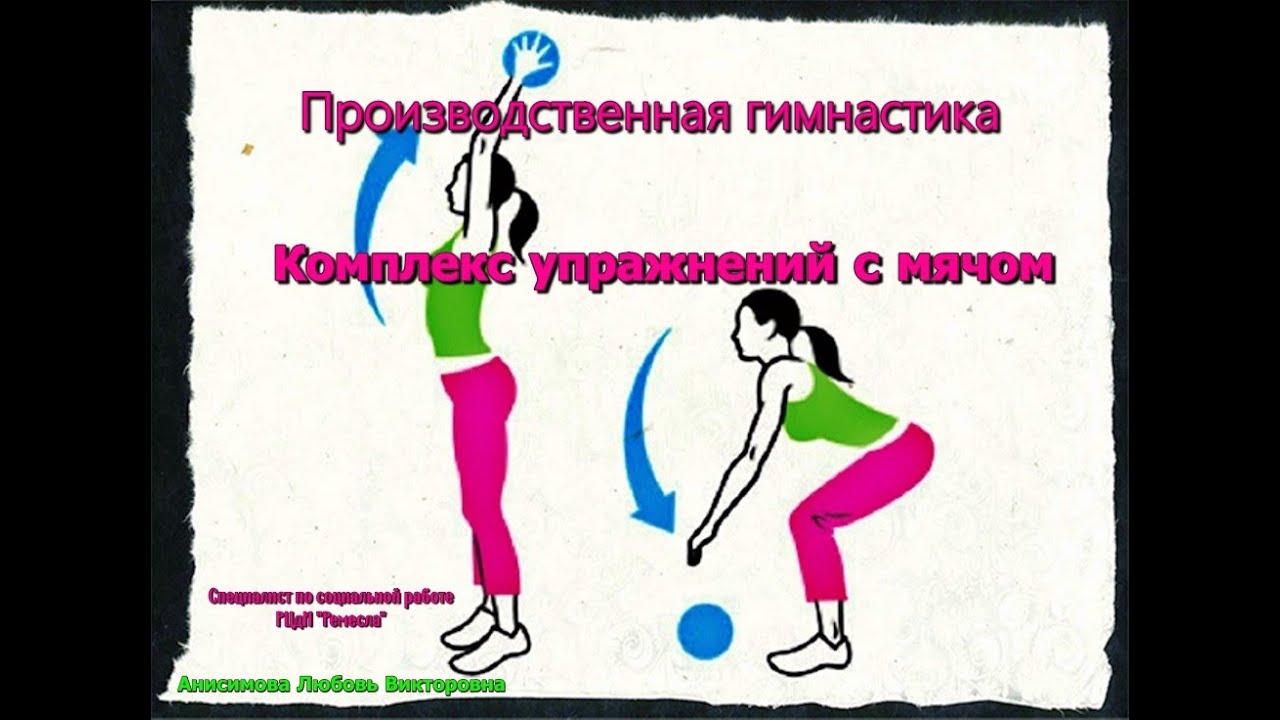 🏀Производственная гимнастика. Комплекс упражнений с мячом⛹♀