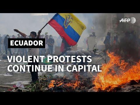 Violent protests continue in Ecuador over fuel price hikes   AFP