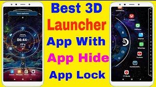 Best New 3D Launcher with app hide app lock premium theme   best launcher app   new app 2020