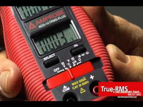 Amprobe ACD-14 PLUS Dual Display Digital Clamp Multimeter with Temperature with a NIST-Traceable Calibration Certificate with Data