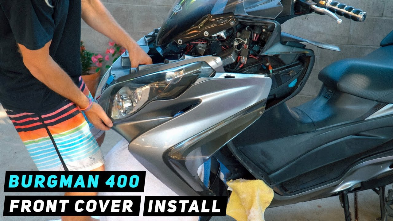 Suzuki Burgman 400 Front Cover Installation 2007-2016 | Mitch's Scooter Stuff