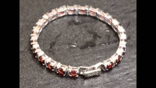 Radiant Natural Red Garnet Women S-Spaced Tennis Bracelet 925 Silver(, 2015-04-23T11:54:07.000Z)