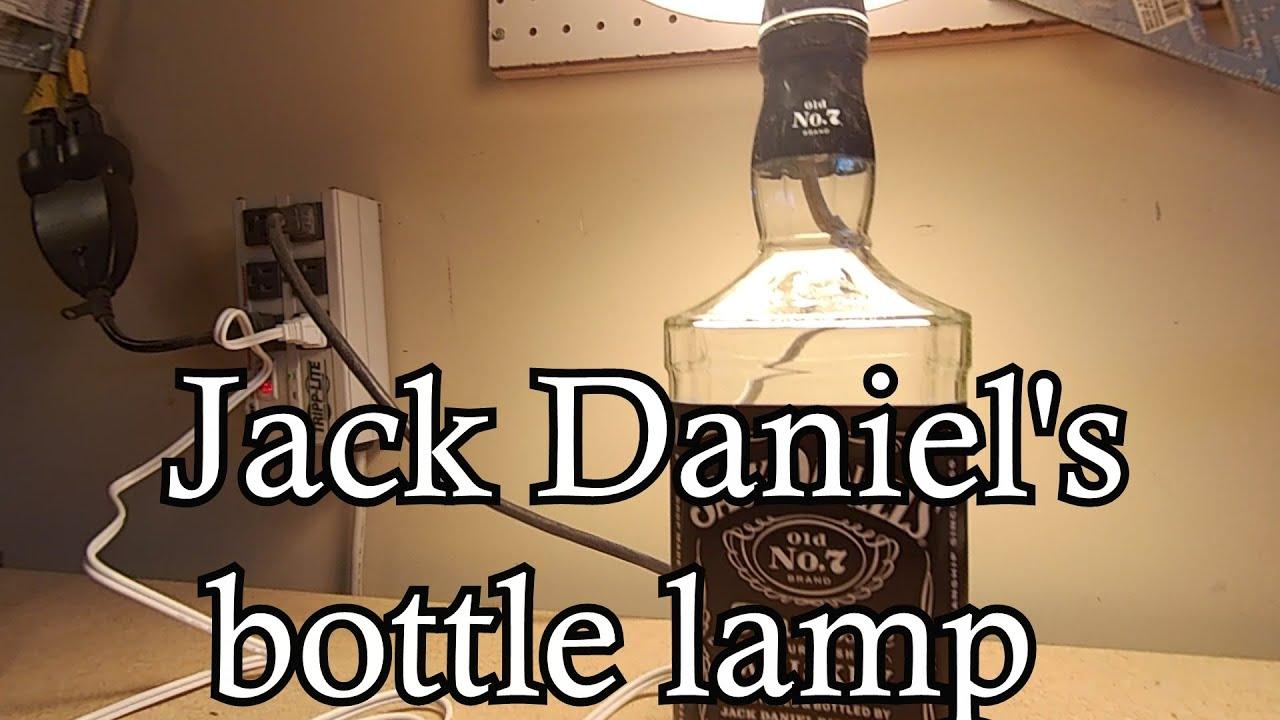glass bottle lamp led make jack daniels bottle lamp youtube
