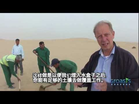 (Chinese subtitles) Groasis anti desertification instruction film in Dubai to plant trees in deserts