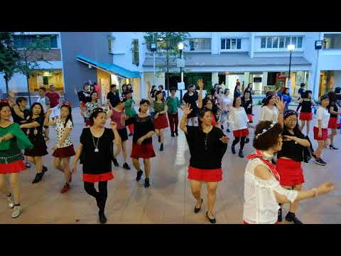 Rio—Christmas Line Dance Party 9 Dec 2017 @ Tampines Changkat Zone 4 RC
