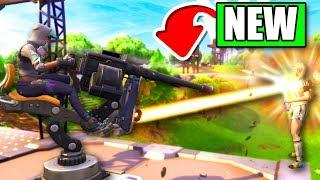 Fortnite *NEW* Mounted Turret Gameplay (Fortnite: Battle Royale Update)