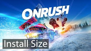ONRUSH Install Size Install Size (Xbox One, Playstation 4)