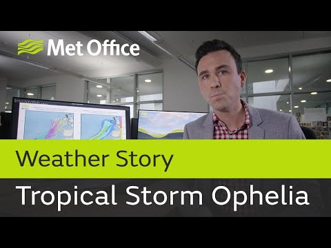 Tropical Storm Ophelia threatens the British Isles