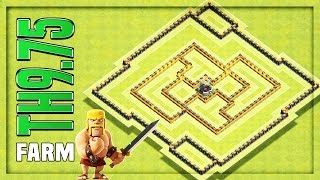 TH9.75 Farming Base #7 🔸 TH9.75 HYBRID BASE - No Inferno 🔸 Clash of Clans