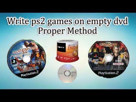 how to write ps2 games to dvd