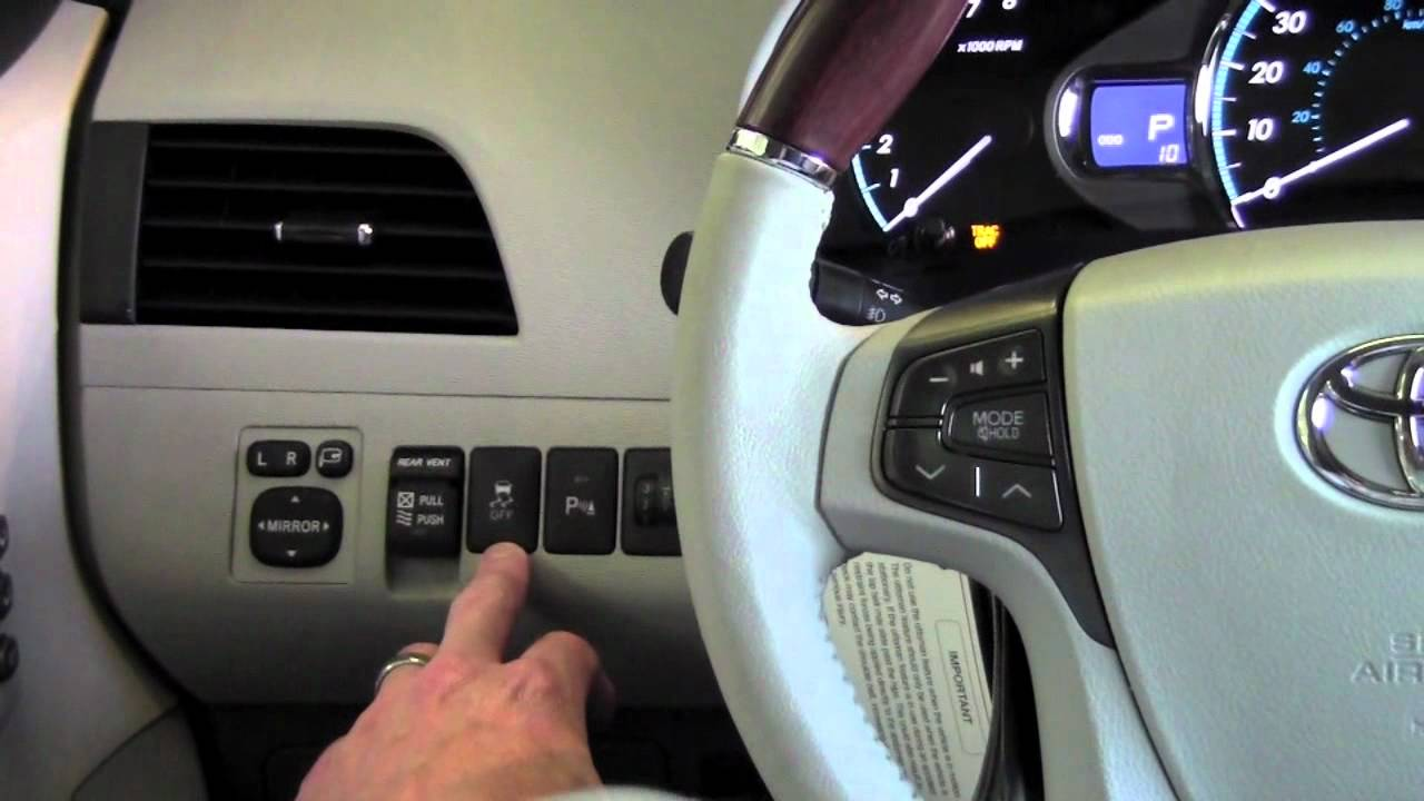 2011 | Toyota | Sienna | VSC And TRAC Shutoff | How To by Toyota City Minneapolis MN - YouTube