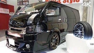 (4K)HIACE STYLE TEST CAR 200 HIACE VAN 2.0S-GL ハイエーススタイル・テストカー - 大阪オートメッセ2016