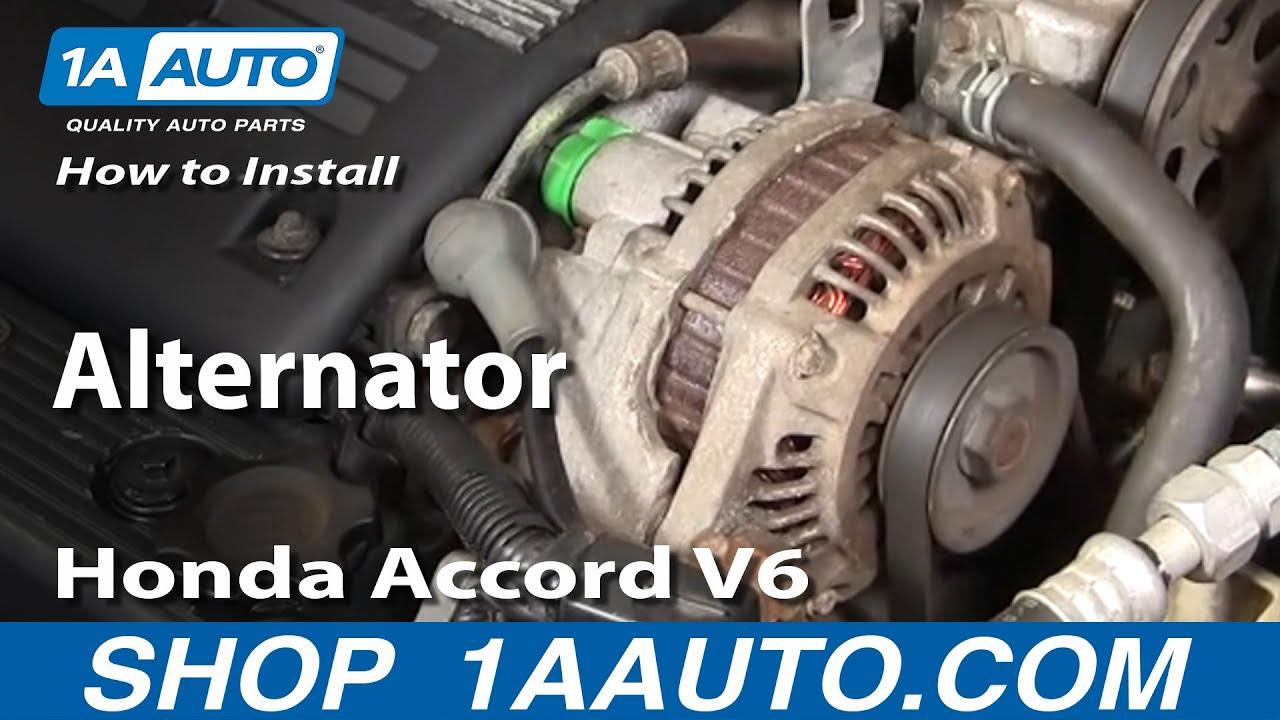 How to Replace Alternator 9597 Honda Accord  YouTube