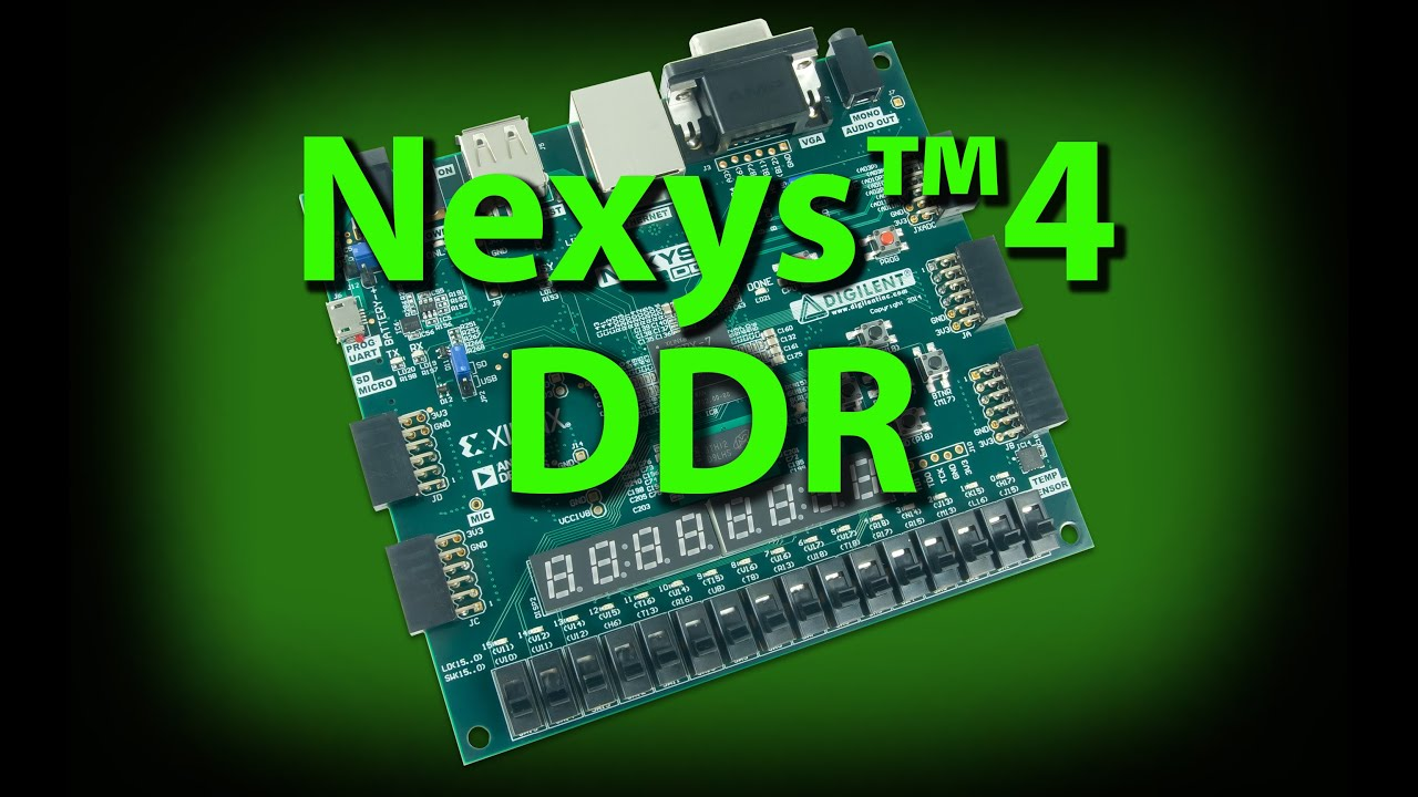 Nexys 4 DDR Artix-7 FPGA Trainer Board Recommended for ECE Curriculum  (RETIRED)