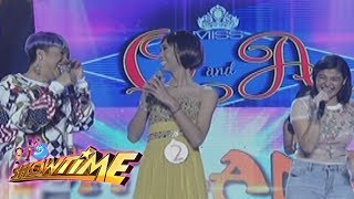 Video It's Showtime Miss Q & A: Vice Ganda notices something in his conversation with Anne download MP3, 3GP, MP4, WEBM, AVI, FLV Januari 2018