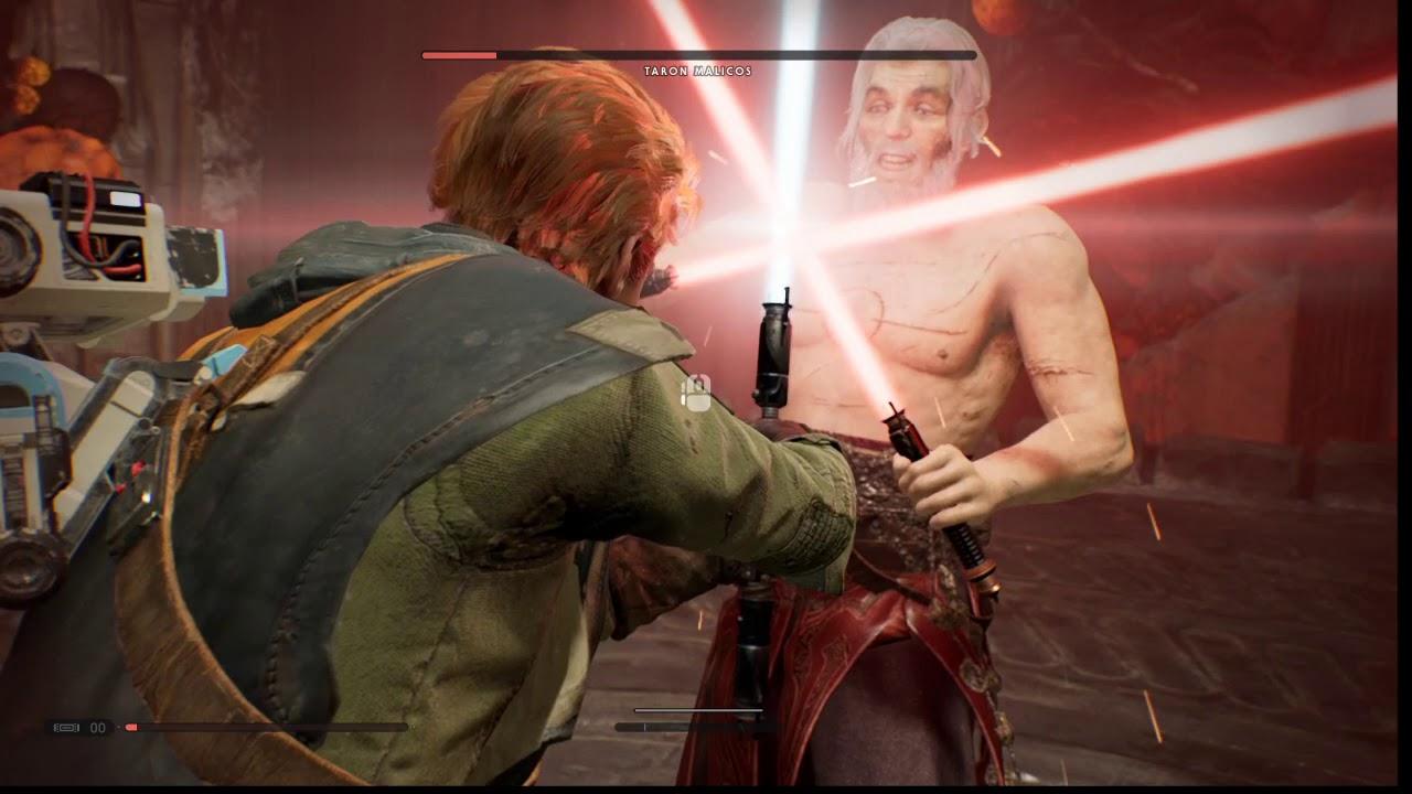 Star Wars Jedi Fallen Order Taron Malicos Fight! Jedi Master difficulty! -  YouTube