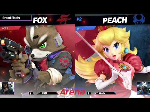 Ann Arbor Arena #23 Grand Finals Zinoto (Peach) vs PC3X (Pac-Man/Fox)